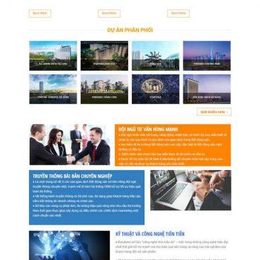 mẫu website nhiều dự án mới