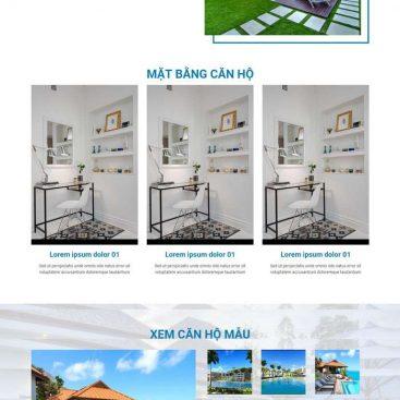 mẫu web một dự án căn hộ