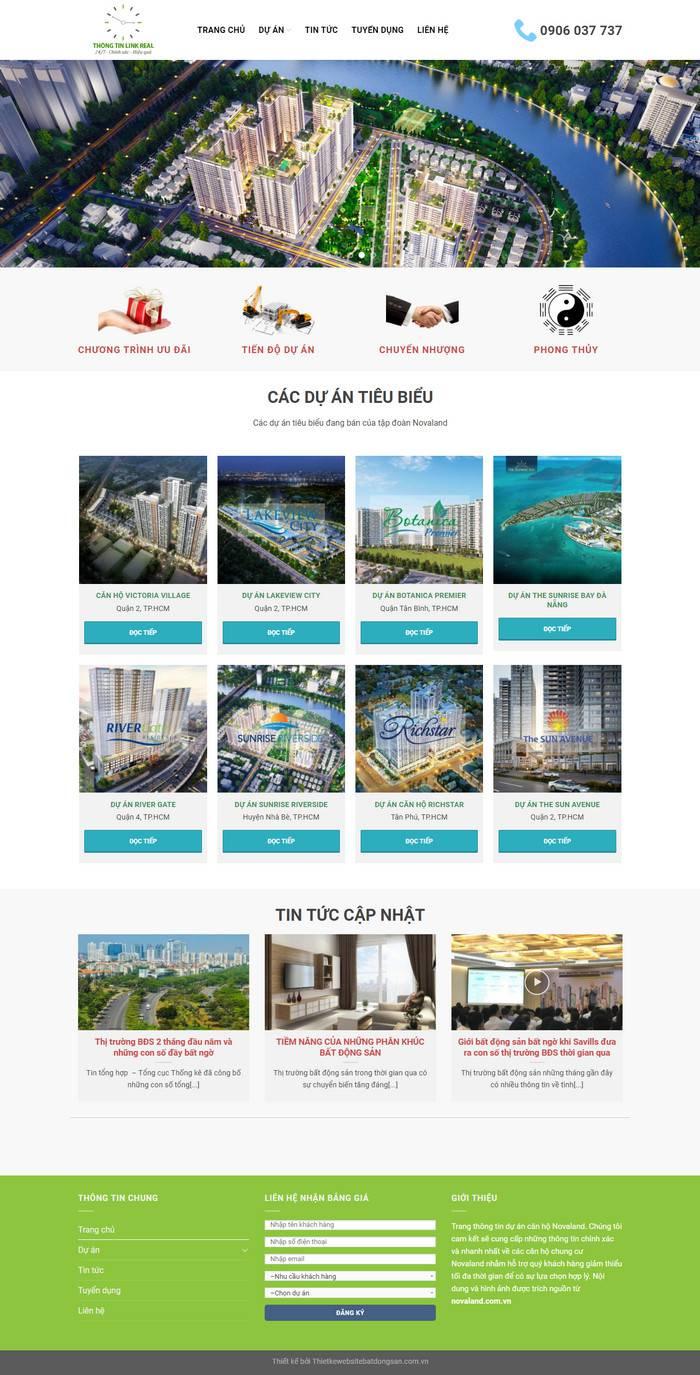 thiết kế web căn hộ