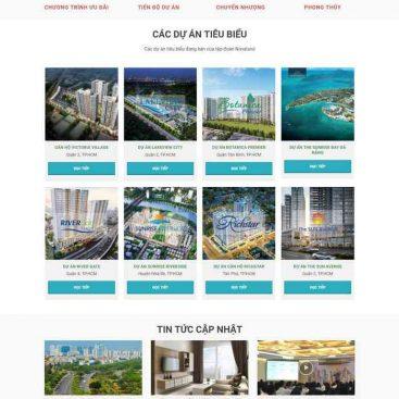thiết kế web dịch vụ căn hộ