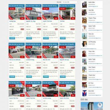 mẫu website nhà đất