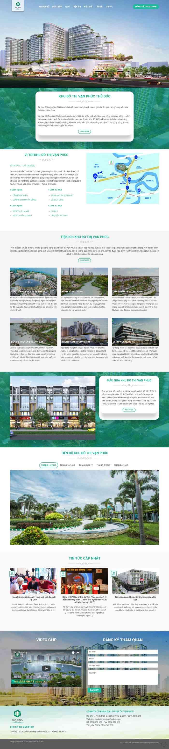 mẫu website bất động sản một dự án