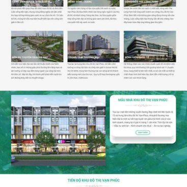 mẫu website dự án vạn phúc