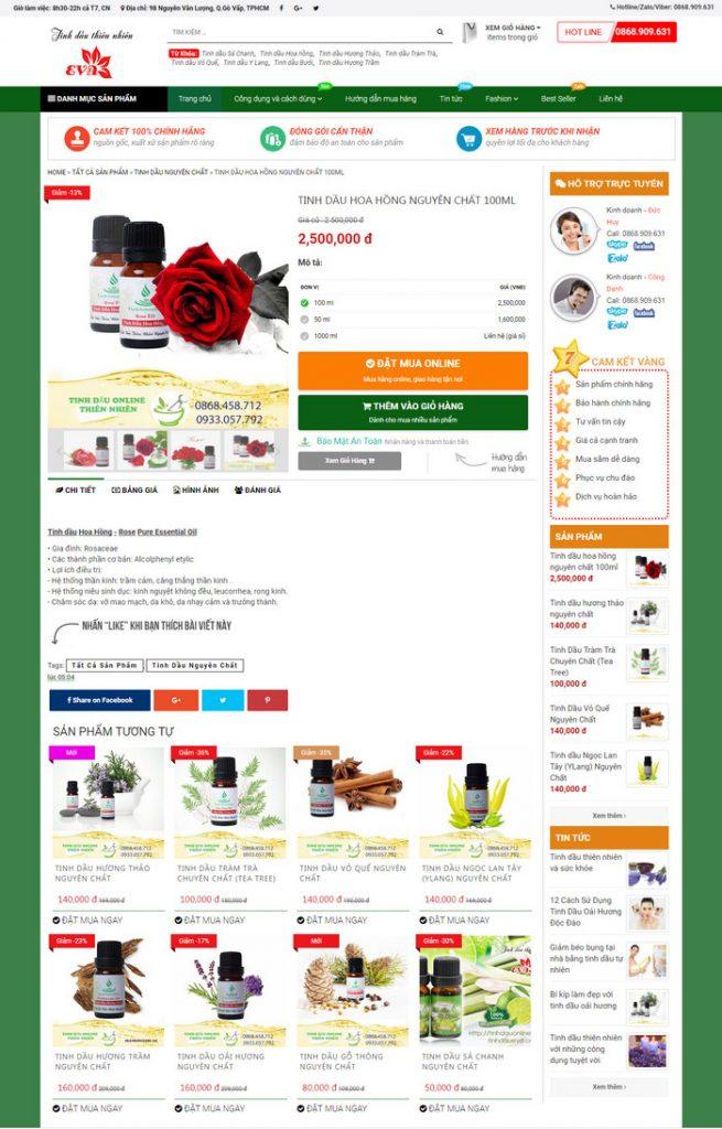 trang sản phẩm template blogspot bán hàng miễn phí tuyệt đẹp