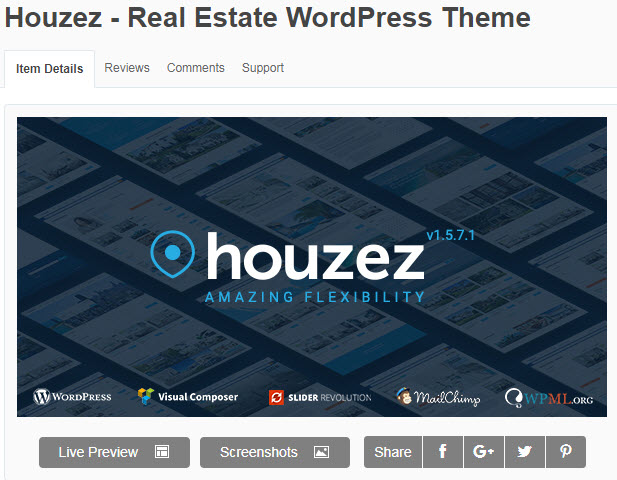 theme bất động sản wordpress houzez