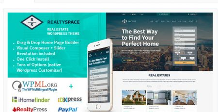 Theme bất động sản wordpress realty space