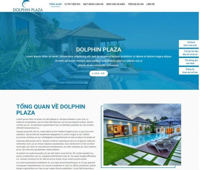 thiết kế website giới thiệu dự án bất động sản chuyên nghiệp