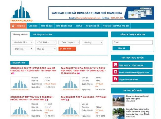 thiết kế website mua bán nhà đất dễ sử dụng