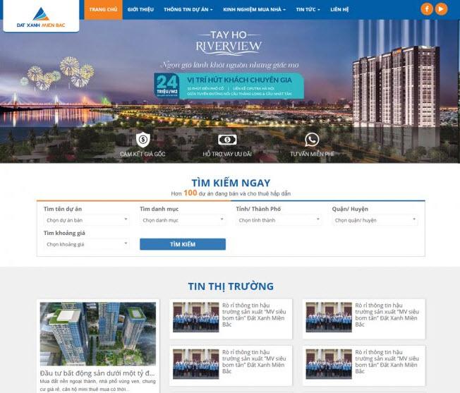 thiết kế website mua bán nhà đất giá rẻ tiết kiệm chi phí