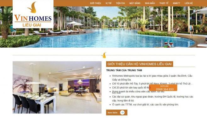 thiết kế website giới thiệu dự án bất động sản giá rẻ
