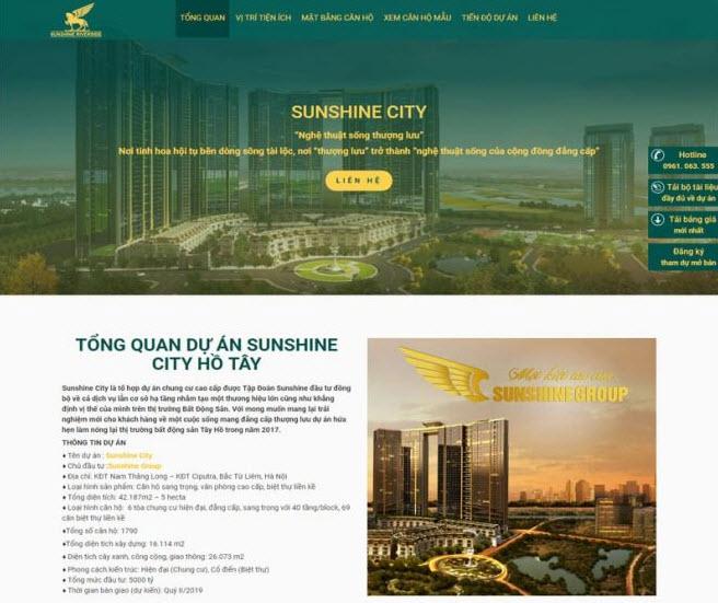 thiết kế website giới thiệu dự án bất động sản