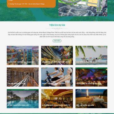 mẫu website bds 1 dự án phẳng đẹp
