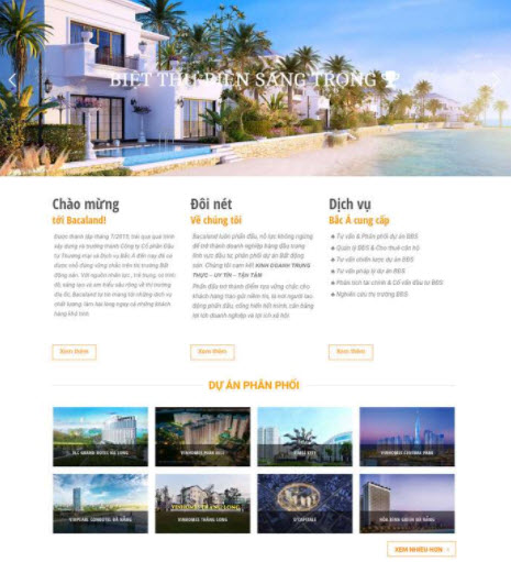 Thiết kế website bất động sản tại Đà Nẵng SEO dễ dàng