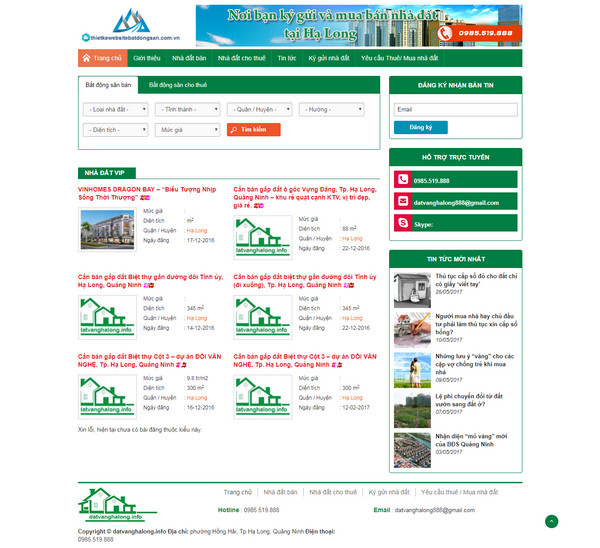 Thiết kế website rao vặt bất động sản SEO hiệu quả