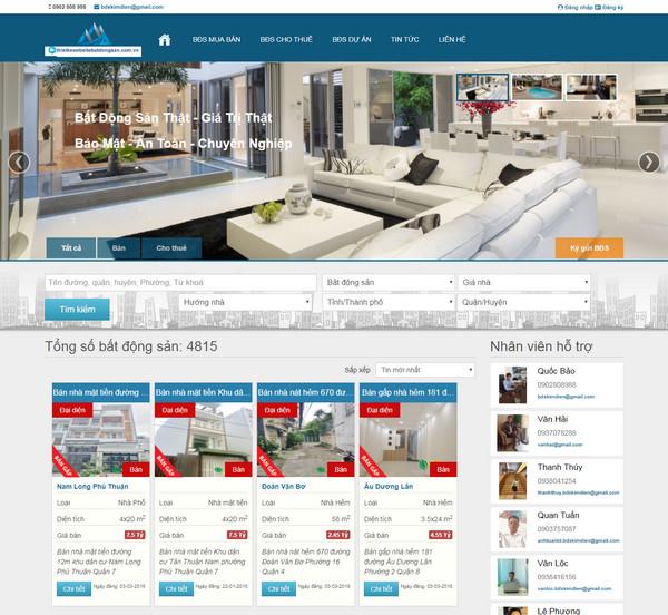 Thiết kế website rao vặt bất động sản nhà đất chuyên nghiệp