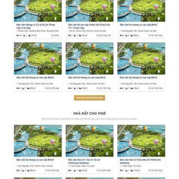 mẫu web bds nhiều dự án mới