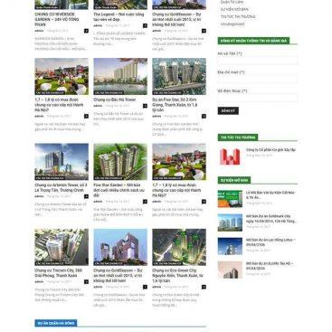 mẫu web bds nhiều dự án tin tức