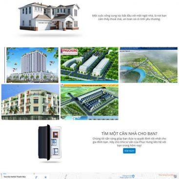 giao diện web bds công ty