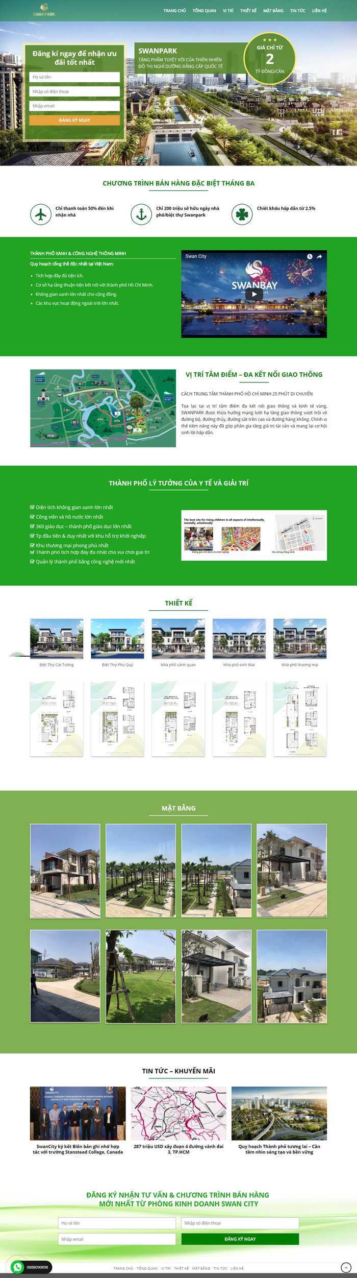 mẫu website bds 1 dự án tuyệt đẹp m38