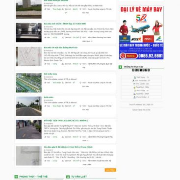 mẫu website bds rao vặt đăng tin 2019
