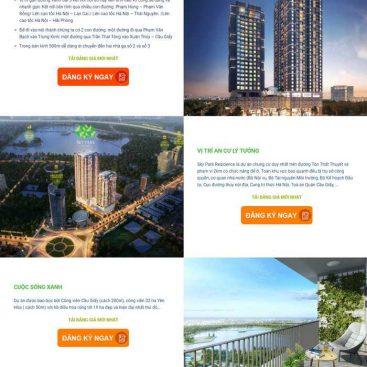 mẫu web bất động sản 1 dự án mới đẹp