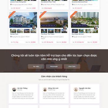 Mẫu website bất động sản Cho Chuyên Viên Tư Vấn Cá Nhân M64
