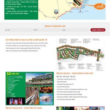 mẫu web căn hộ 1 dự án condotel
