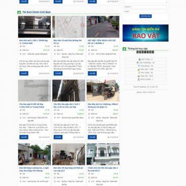 mẫu giao diện web rao vặt bất động sản đẹp mắt