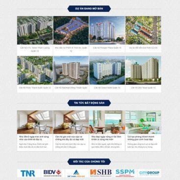 mẫu web bds nhiều dự án nhà đất