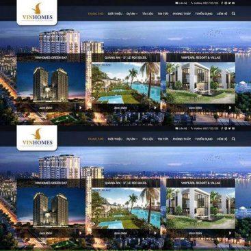 mẫu web bds bán nhiều dự án căn hộ đất nền