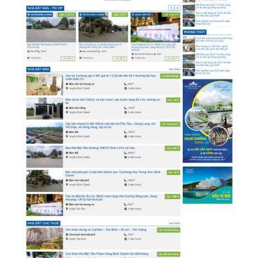 Mẫu website bđs rao vặt đăng tin chuyên nghiệp M68