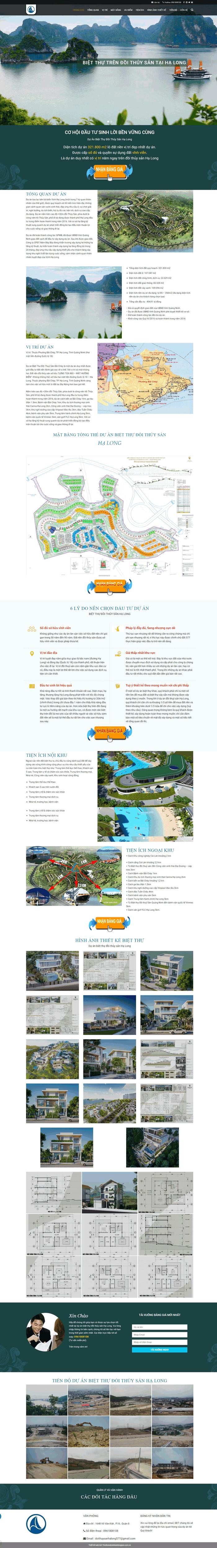 Giao diện mẫu web bđs 1 dự án landing page chuẩn đẹp M72