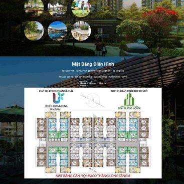 Mẫu website bđs landing page 1 dự án mới đẹp mắt M76