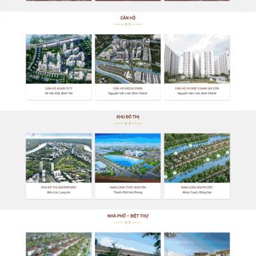 Giao diện trang web bđs M80