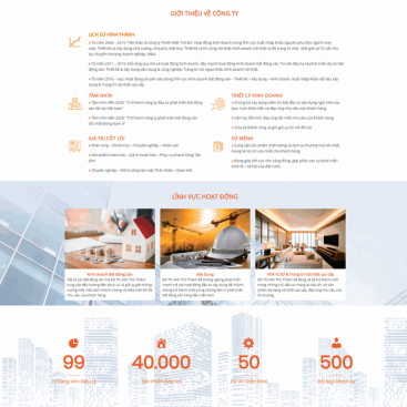Mẫu web bđs dành cho sàn phân phối dự án M86