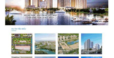 thiết kế website bất động sản tại bình dương uy tín