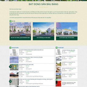 Mẫu web bán dự án và nhà đất lẻ M91 hình 2