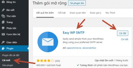 Cài đặt Plugin Easy WP SMTP
