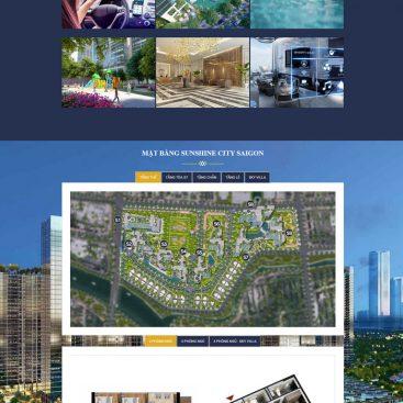 Mẫu dự án bất động sản landing page đẳng cấp M93