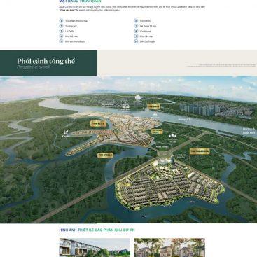 Giao diện landing page chạy dự án bất động sản tuyệt phẩm M94