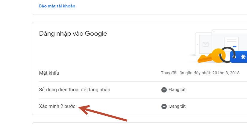 Xác minh 2 bước Gmail