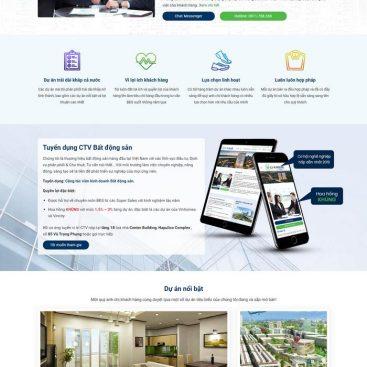 Giao diện website sàn giao dịch bất động sản chủ đầu tư M99