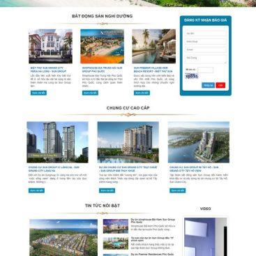 Mẫu giao diện web bđs bán nhiều dự án của chủ đầu tư M97