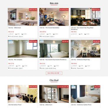 Mẫu website bất động sản cao cấp chuyên nghiệp HOT nhất 2020 M103